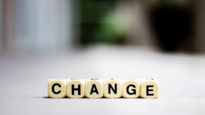 image of blocks spelling out the word change